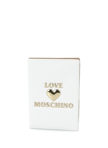 Love Moschino Love Moschino  Logolu Kadın Pasaportluk 101617408 Beyaz